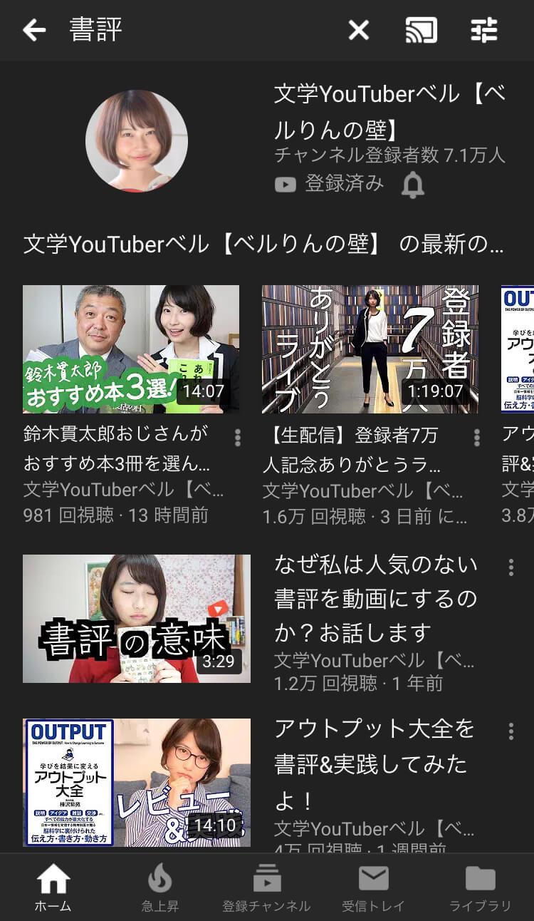 youtube検索, 書評